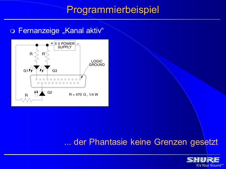 Programmierbeispiel Fernanzeige Kanal aktiv... der Phantasie keine Grenzen gesetzt