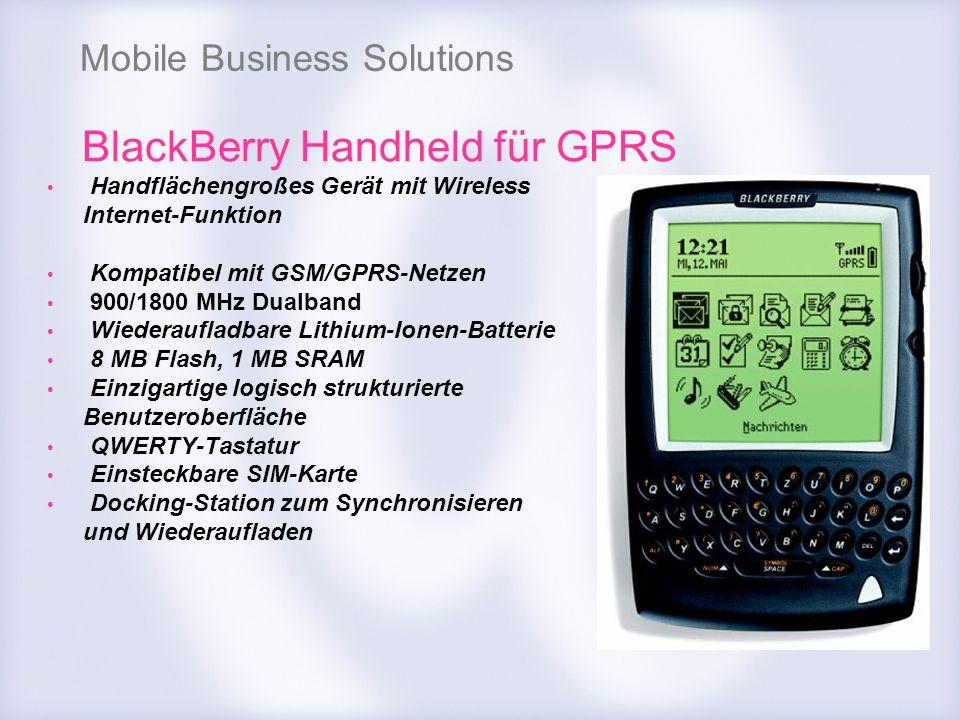 Mobile Business Solutions Handflächengroßes Gerät mit Wireless Internet-Funktion Kompatibel mit GSM/GPRS-Netzen 900/1800 MHz Dualband Wiederaufladbare