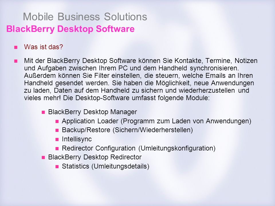 Mobile Business Solutions Was ist das.