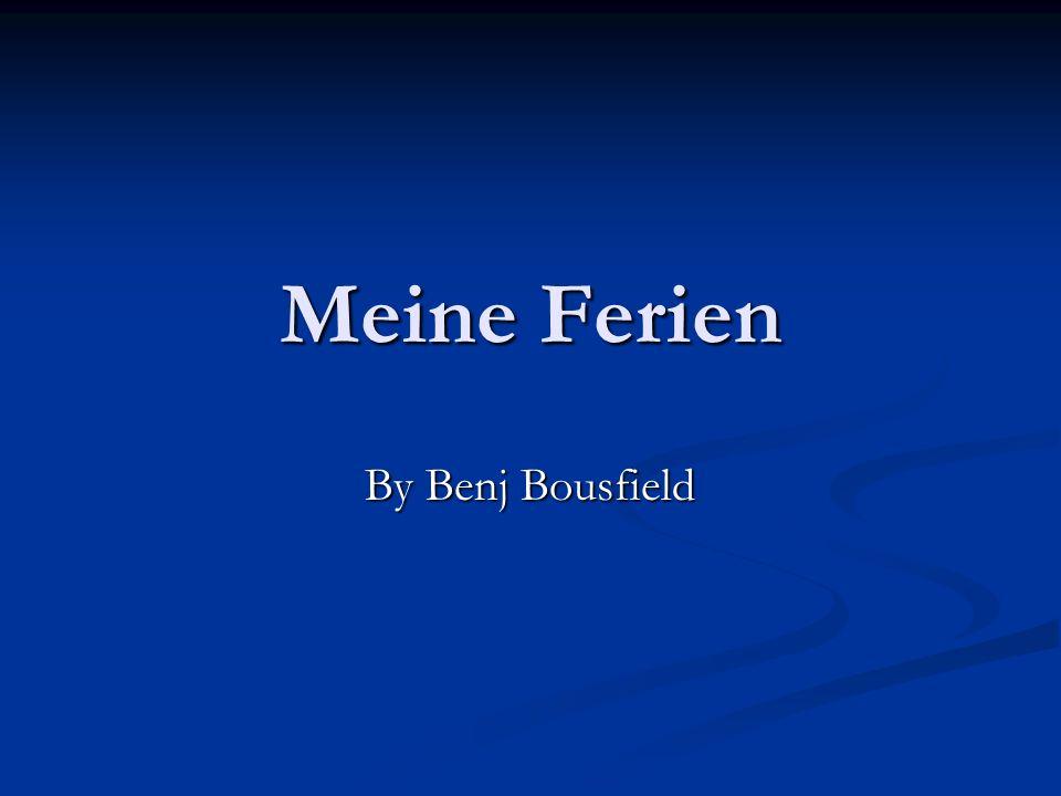 Meine Ferien By Benj Bousfield