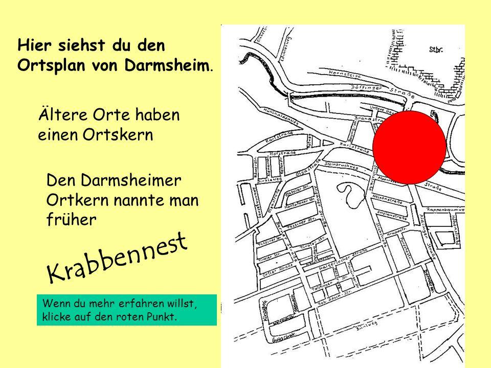 Hier siehst du den Ortsplan von Darmsheim. Ältere Orte haben einen Ortskern Den Darmsheimer Ortkern nannte man früher Wenn du mehr erfahren willst, kl
