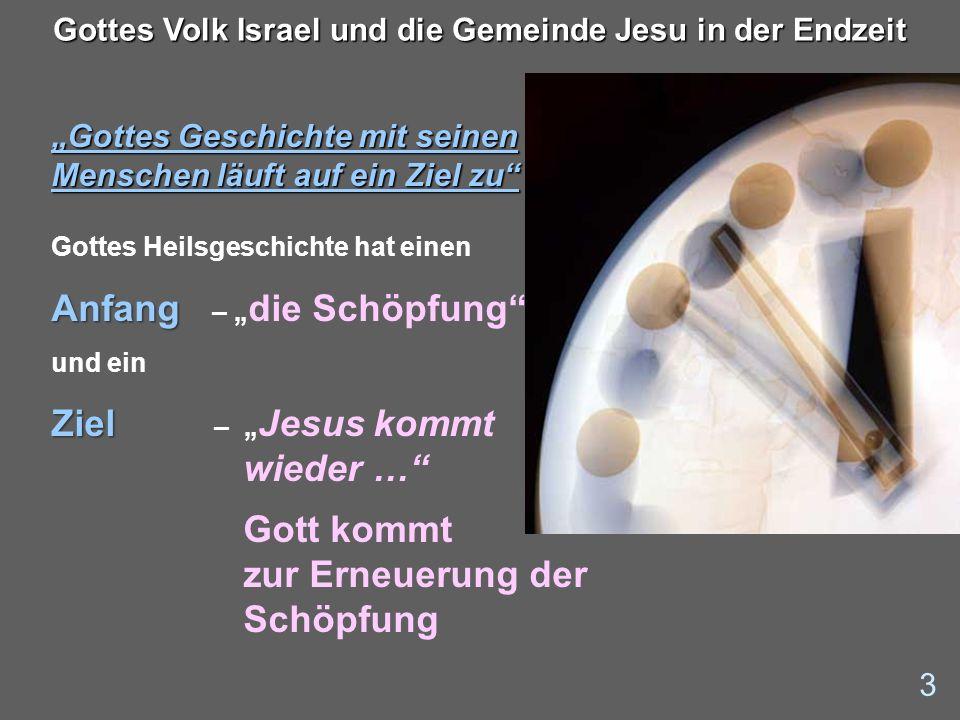 Gottes Volk Israel und die Gemeinde Jesu in der Endzeit – lautete unser Thema 24 Gottes Volk Israel und die Gemeinde Jesu in der Endzeit Perspektiven – für die Endzeit - Was dürfen wir erwarten.