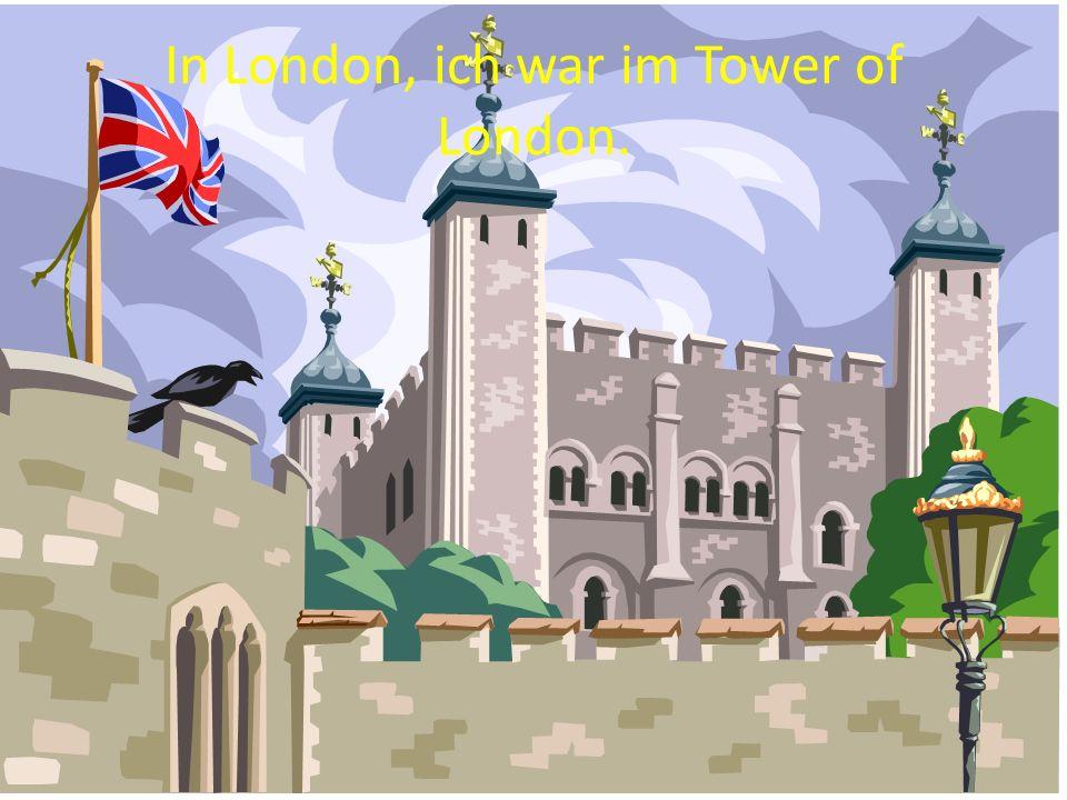 Wann ich war im Tower of London, ich habe den Tower fotografiert.