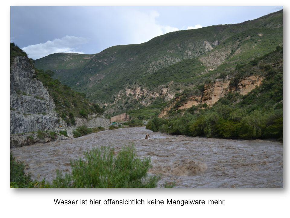 Auch vor der Straße macht das Wasser nicht halt – da müssen auch wir durch.