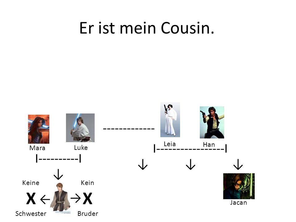 Er ist mein Cousin.
