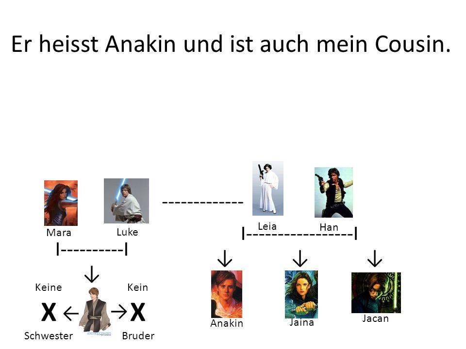 Er heisst Anakin und ist auch mein Cousin.