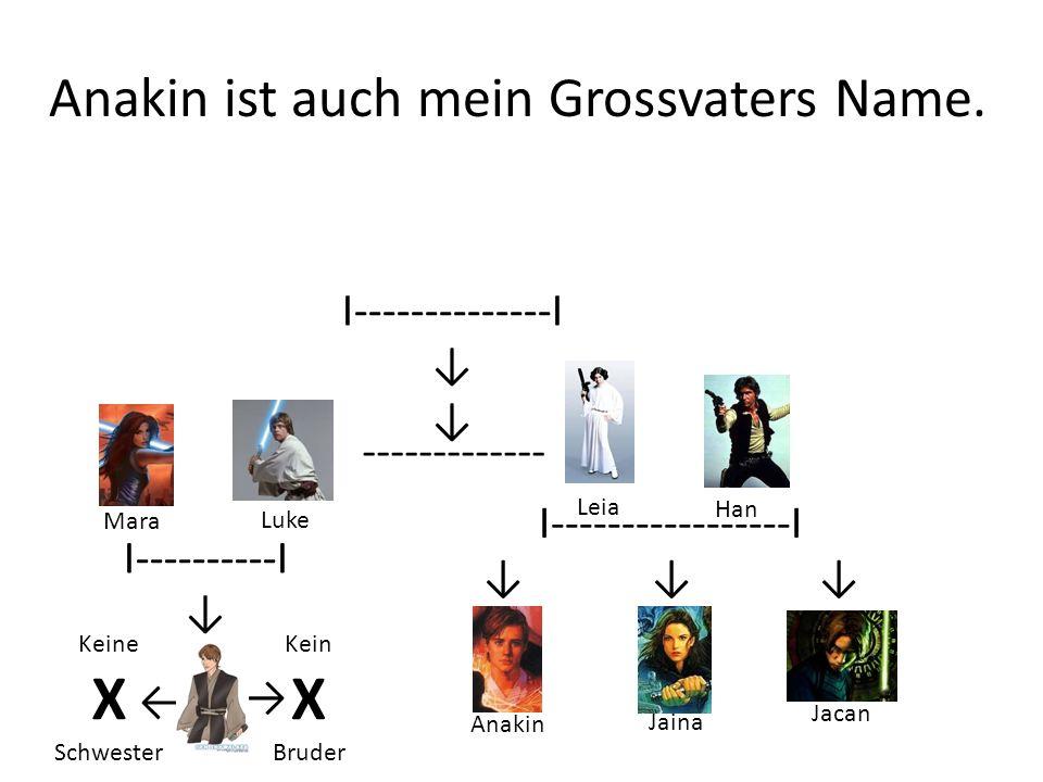 Anakin ist auch mein Grossvaters Name.