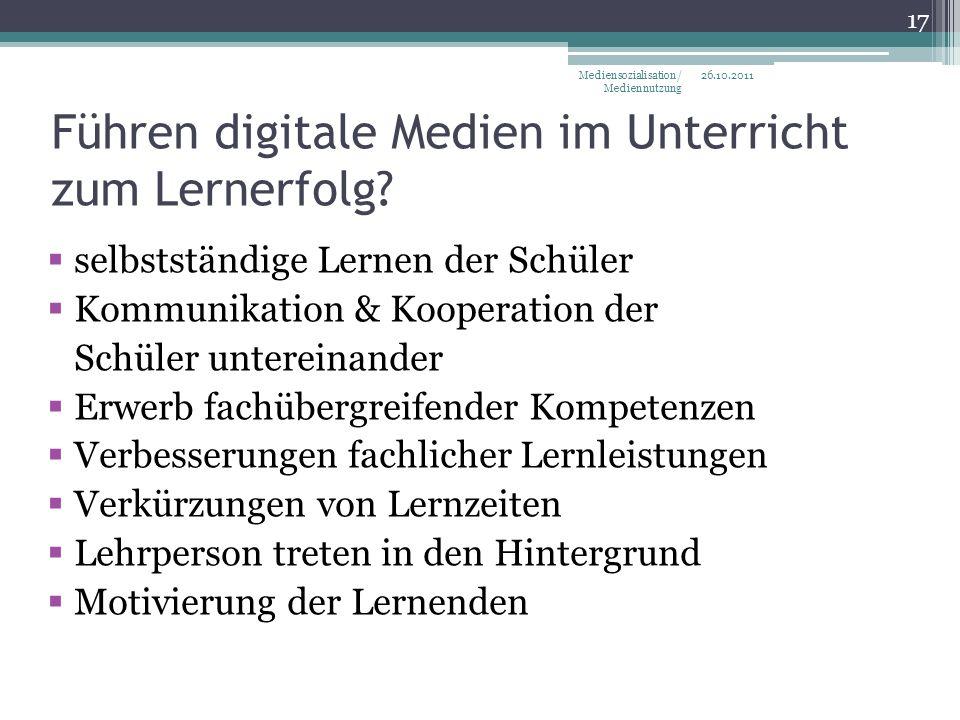 Führen digitale Medien im Unterricht zum Lernerfolg.