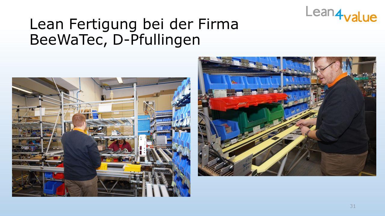 Lean Fertigung bei der Firma BeeWaTec, D-Pfullingen 31
