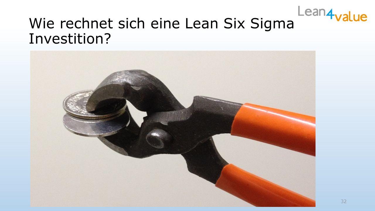 32 Wie rechnet sich eine Lean Six Sigma Investition?