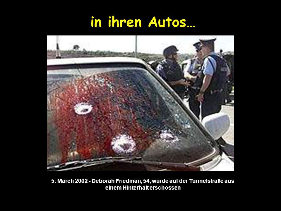 Tötet sie in ihren Städten… 1. Dezember 2001 Selbstmord- Anschlag auf die Ben Yehuda Fu ß g ä ngerzone in Jerusalem