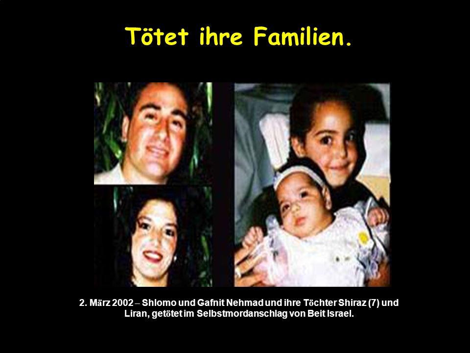 in ihren Autos… 5. March 2002 - Deborah Friedman, 54, wurde auf der Tunnelstra ß e aus einem Hinterhalt erschossen