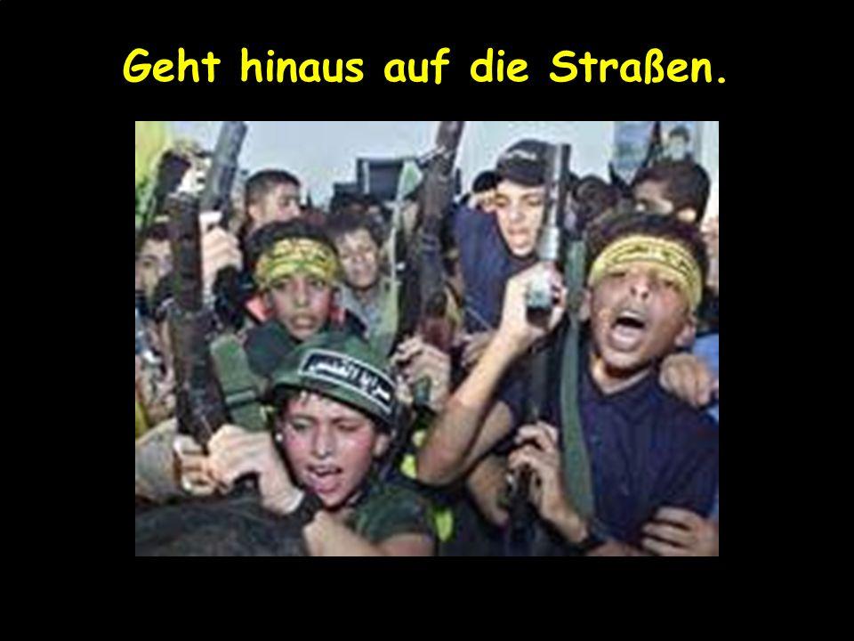 Tretet den Einheiten der Shahide* bei, *heilige Mörder