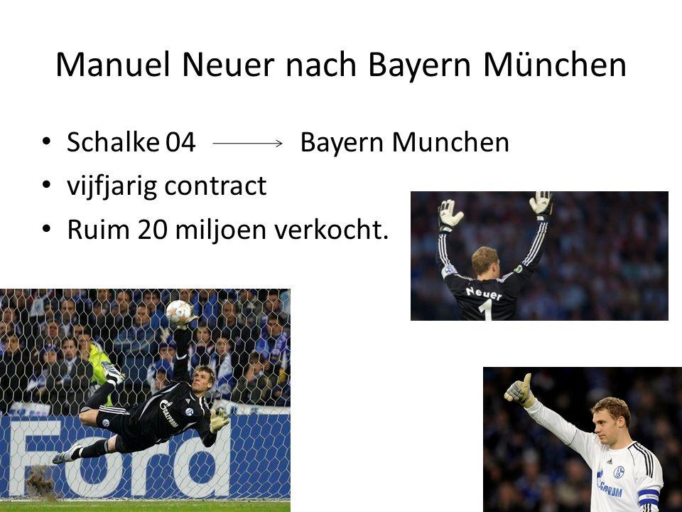 Manuel Neuer nach Bayern München Schalke 04 Bayern Munchen vijfjarig contract Ruim 20 miljoen verkocht.