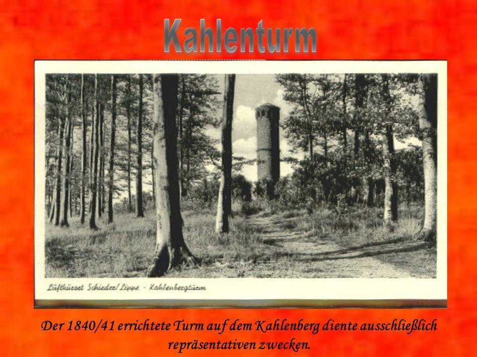 Der 1840/41 errichtete Turm auf dem Kahlenberg diente ausschließlich repräsentativen zwecken.