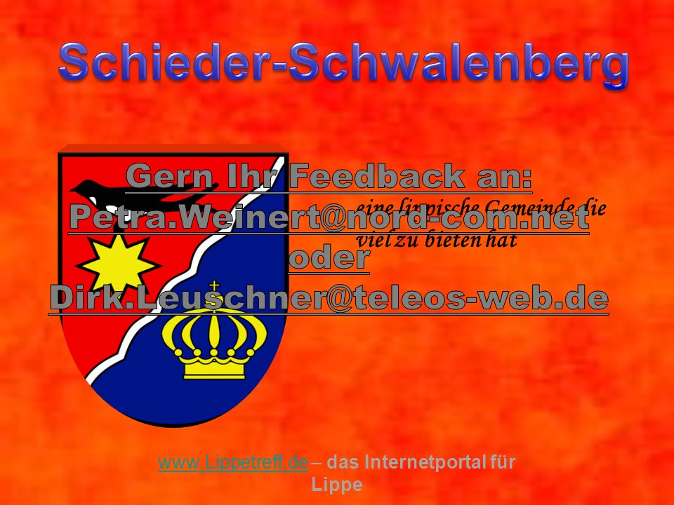 eine lippische Gemeinde die viel zu bieten hat www.Lippetreff.de www.Lippetreff.de – das Internetportal für Lippe