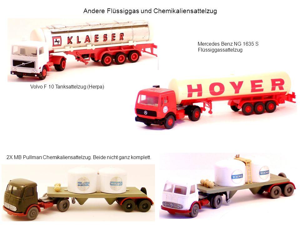 Andere Flüssiggas und Chemikaliensattelzug Volvo F 10 Tanksattelzug (Herpa) 2X MB Pullman Chemikaliensattelzug. Beide nicht ganz komplett. Mercedes Be