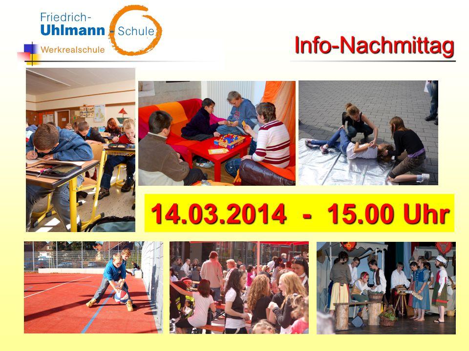 Info-Nachmittag 14.03.2014 - 15.00 Uhr