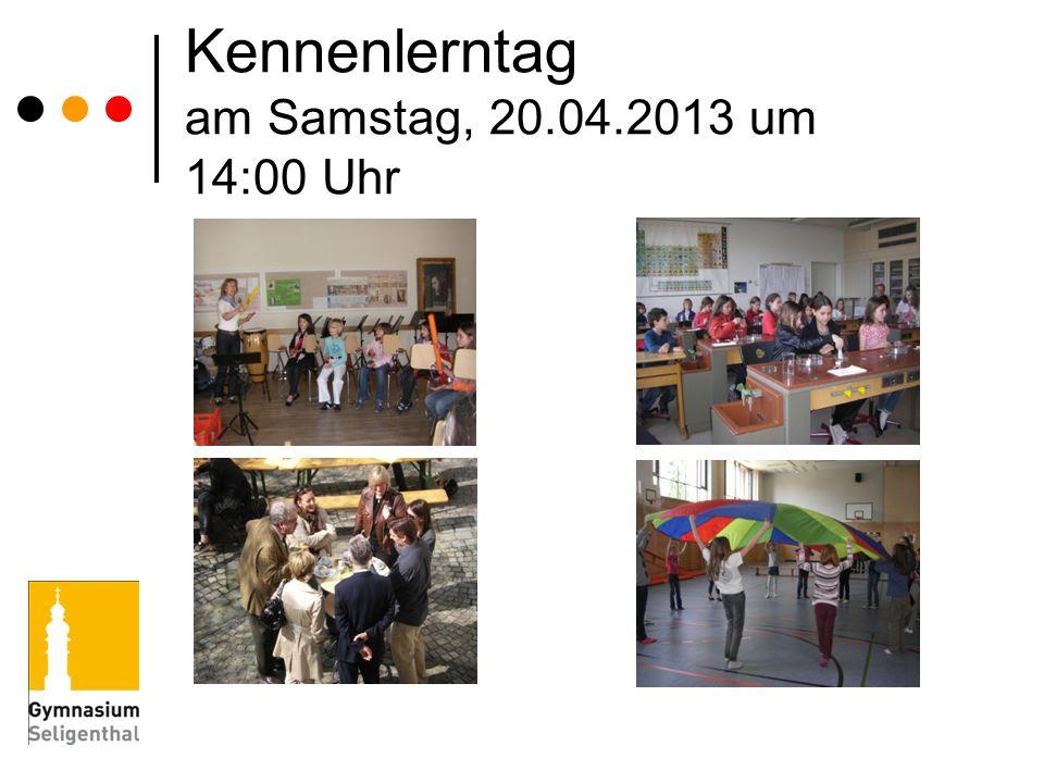 Kennenlerntag am Samstag, 20.04.2013 um 14:00 Uhr
