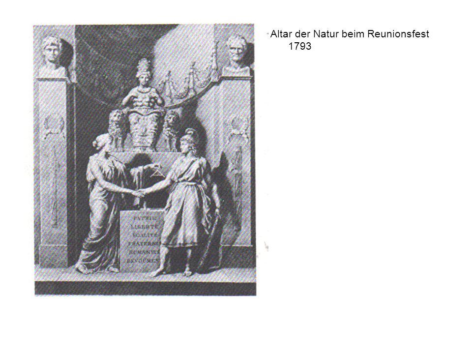 Altar der Natur beim Reunionsfest 1793