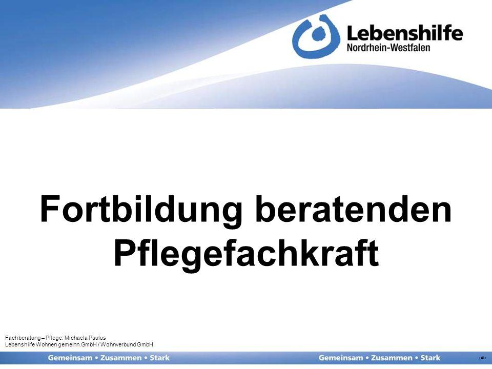 4 2 Jahre Berufserfahrung Teilnehmerorientierte Fortbildung Orientierung an der Rahmenempfehlung für Behandlungspflege in Einrichtungen der...