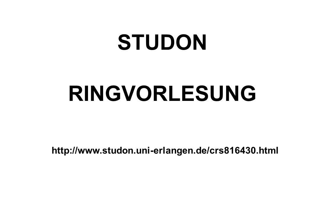 http://www.studon.uni-erlangen.de/crs816430.html STUDON RINGVORLESUNG