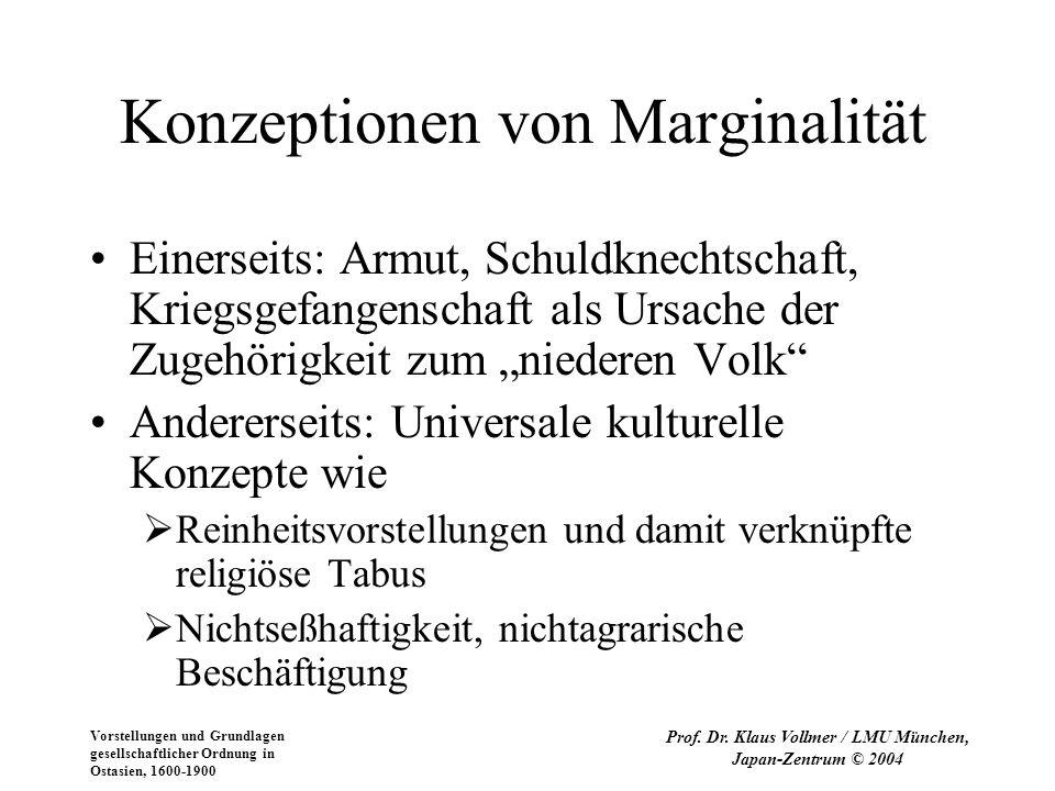 Vorstellungen und Grundlagen gesellschaftlicher Ordnung in Ostasien, 1600-1900 Prof. Dr. Klaus Vollmer / LMU München, Japan-Zentrum © 2004 Konzeptione