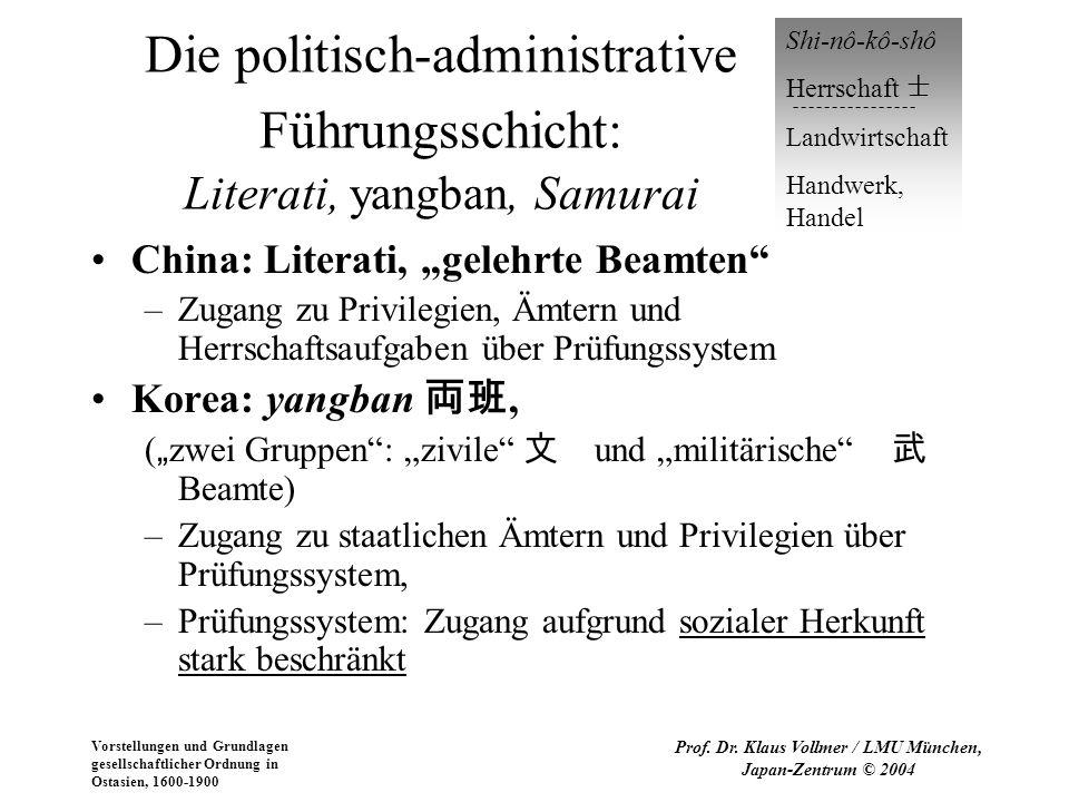 Vorstellungen und Grundlagen gesellschaftlicher Ordnung in Ostasien, 1600-1900 Prof. Dr. Klaus Vollmer / LMU München, Japan-Zentrum © 2004 Die politis