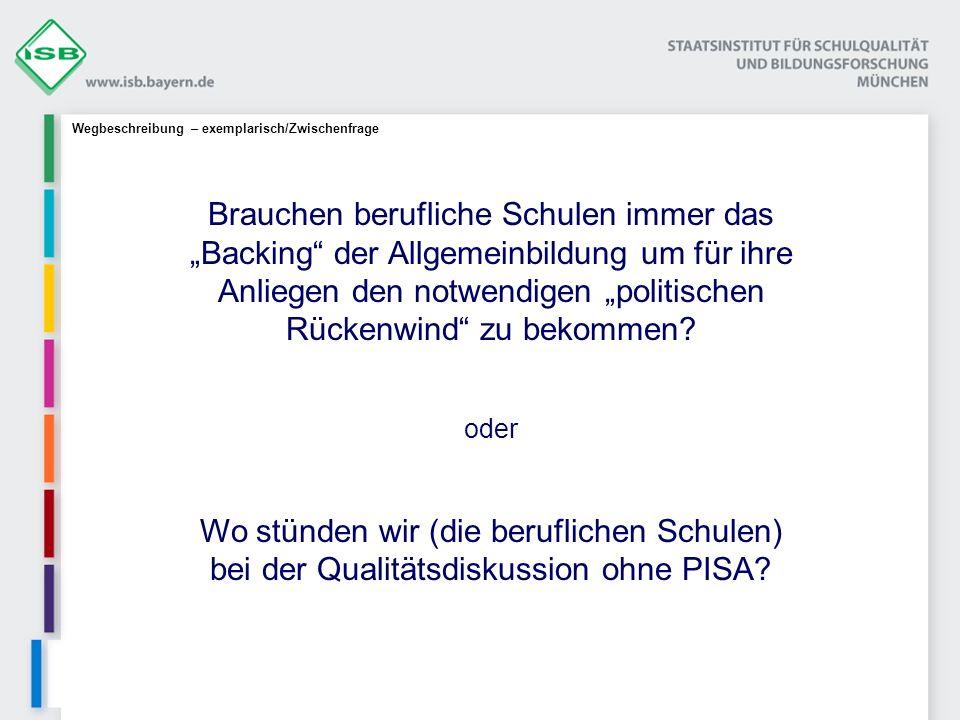 Systematisches Qualitätsmanagement an Beruflichen Schulen in Bayern Projektname: QmbS Basismodell: Q2E Rahmenbed.