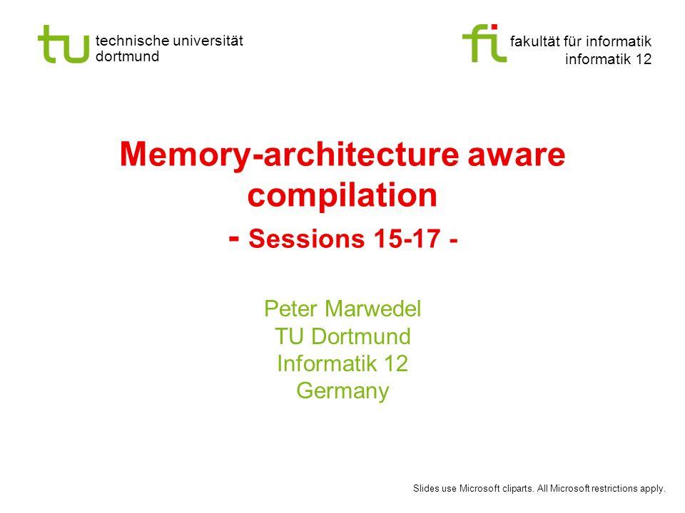 - 122 - technische universität dortmund fakultät für informatik p.