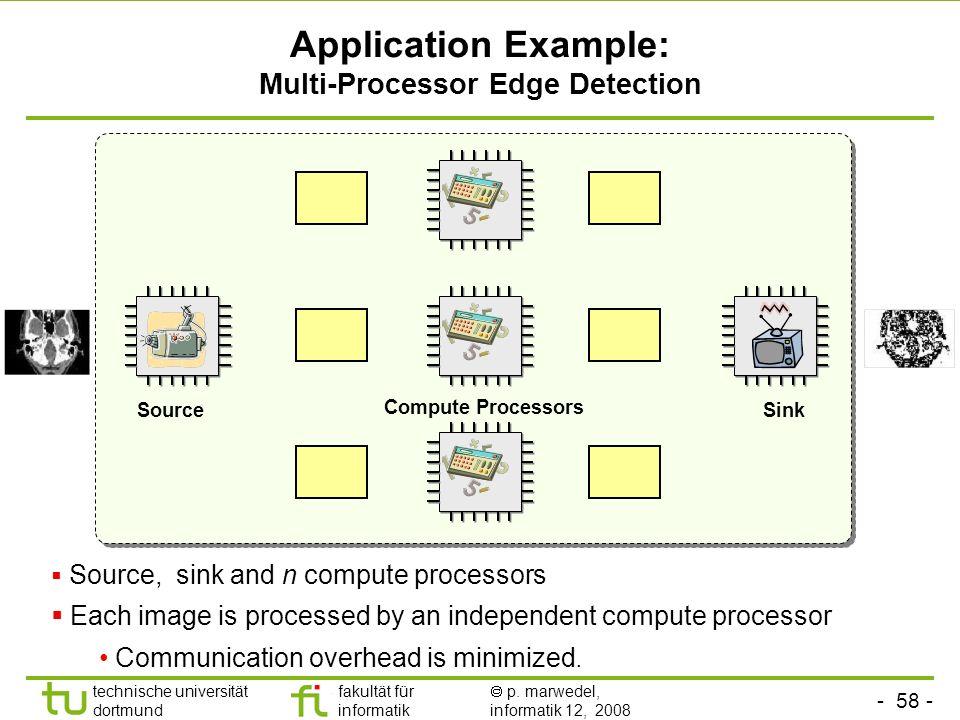 - 58 - technische universität dortmund fakultät für informatik p. marwedel, informatik 12, 2008 TU Dortmund Application Example: Multi-Processor Edge