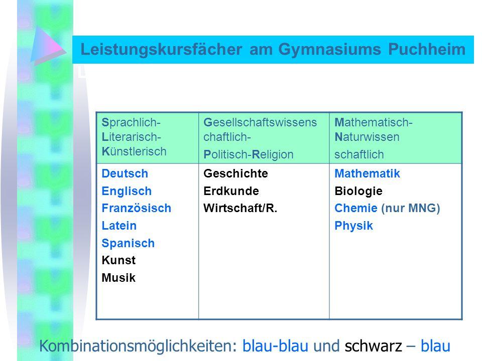 Kurswahlformular für das persönliche Unterrichtsprogramm Fach 2.