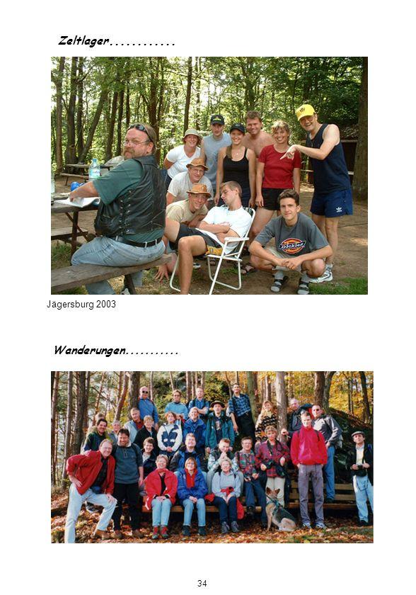 Zeltlager............ Jägersburg 2003 Wanderungen........... 34