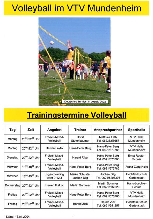 25 Jahre Volleyball, laßt uns feiern Die Volleyballabteilung der VTV-Mundenheim kann in diesem Jahr auf ihr 25-jähriges Bestehen zurückblicken.