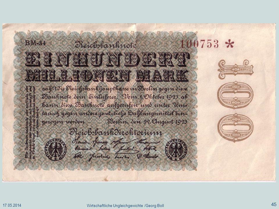 17.05.2014 Wirtschaftliche Ungleichgewichte /Georg Boll 45