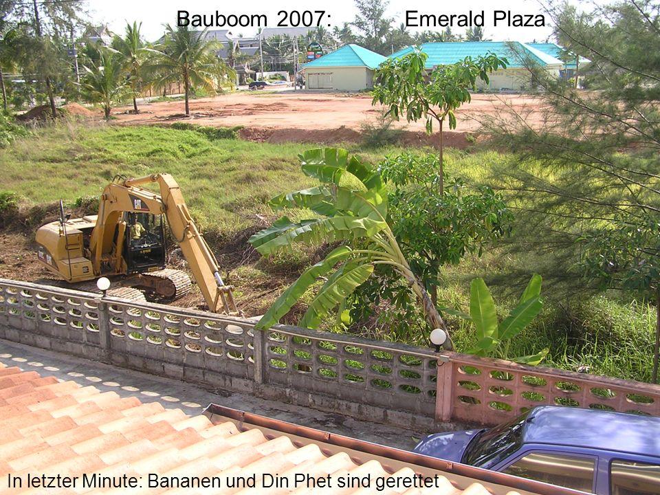 Bauboom 2007: Emerald Plaza In letzter Minute: Bananen und Din Phet sind gerettet