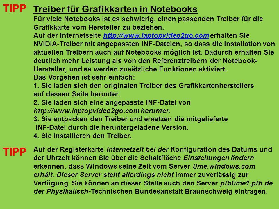 Treiber für Grafikkarten in Notebooks Für viele Notebooks ist es schwierig, einen passenden Treiber für die Grafikkarte vom Hersteller zu beziehen. Au