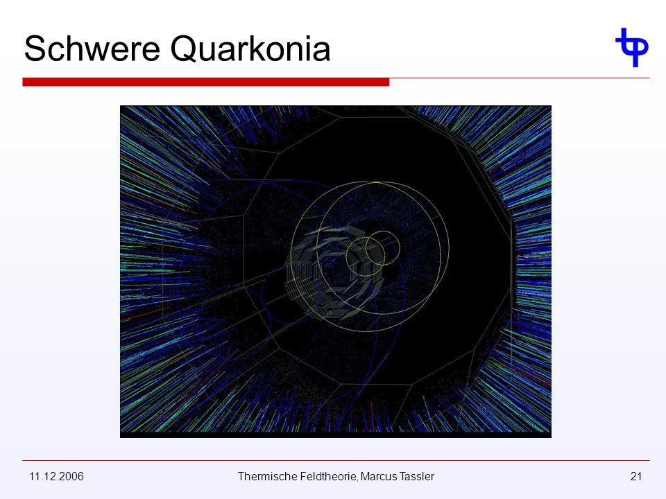 11.12.2006Thermische Feldtheorie, Marcus Tassler21 Schwere Quarkonia