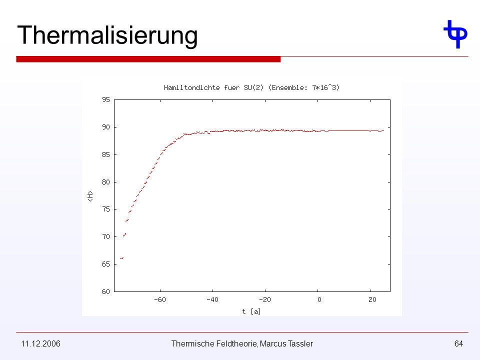11.12.2006Thermische Feldtheorie, Marcus Tassler64 Thermalisierung
