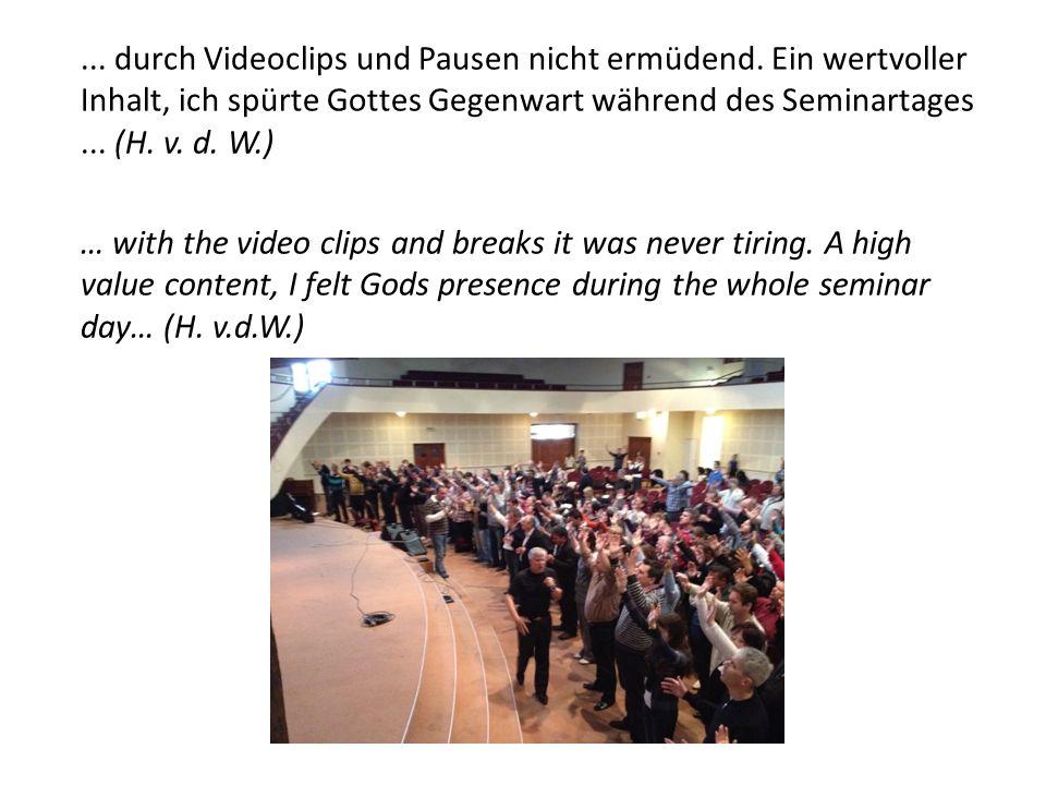 ...Das Seminar in Brno (Tschechische Republik) war großartig...