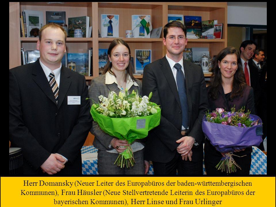 Herr Domansky (Neuer Leiter des Europabüros der baden-württembergischen Kommunen), Frau Häusler (Neue Stellvertretende Leiterin des Europabüros der ba
