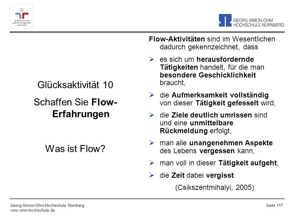 Glücksaktivität 10 Schaffen Sie Flow- Erfahrungen Was ist Flow.