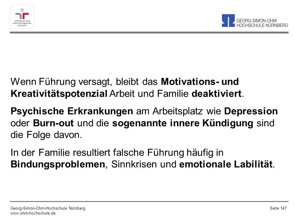 Wenn Führung versagt, bleibt das Motivations- und Kreativitätspotenzial Arbeit und Familie deaktiviert.