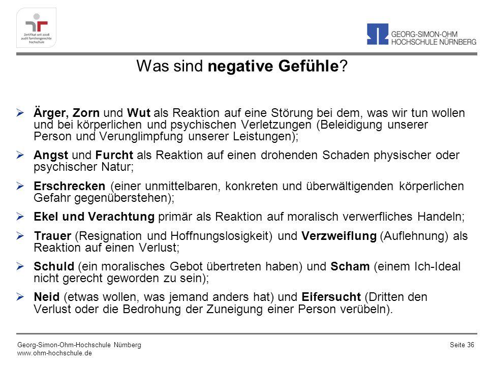 Was sind negative Gefühle.