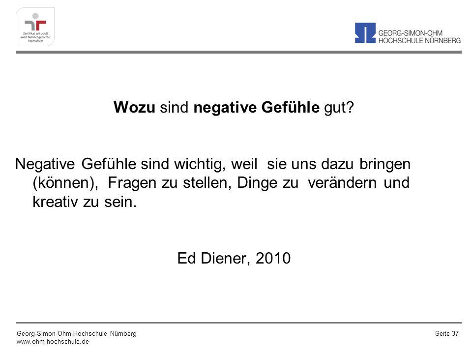 Wozu sind negative Gefühle gut.