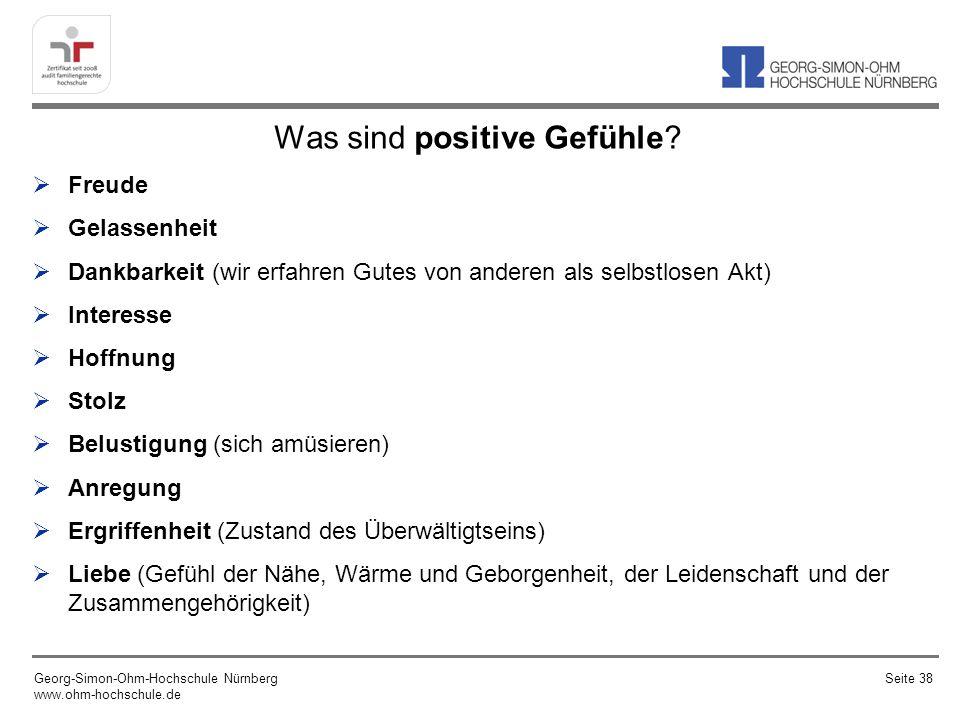 Was sind positive Gefühle.