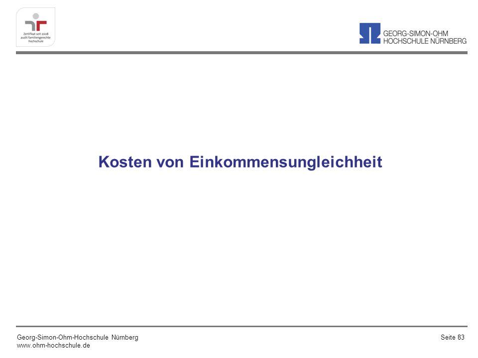 Kosten von Einkommensungleichheit Georg-Simon-Ohm-Hochschule Nürnberg www.ohm-hochschule.de Seite 83