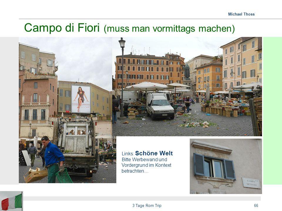 Michael Thoss 3 Tage Rom Trip67 Gegensätze von Anschaulich