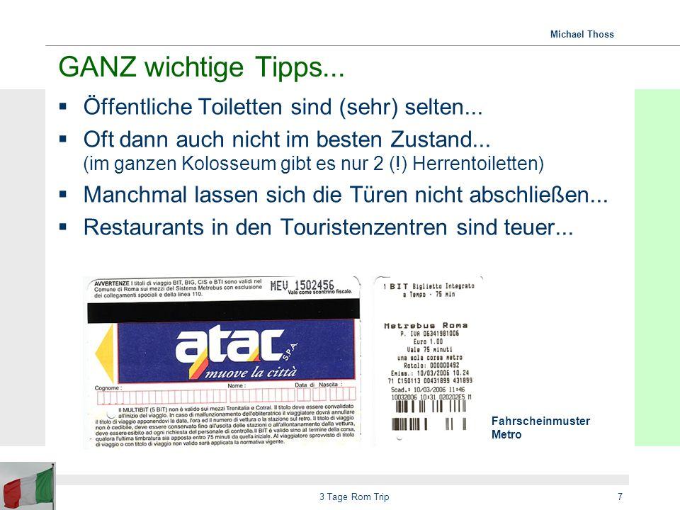 Michael Thoss 3 Tage Rom Trip8 Essen und Trinken Restaurantempfehlungen aus Reiseführern sind meistens sehr, sehr teuer...