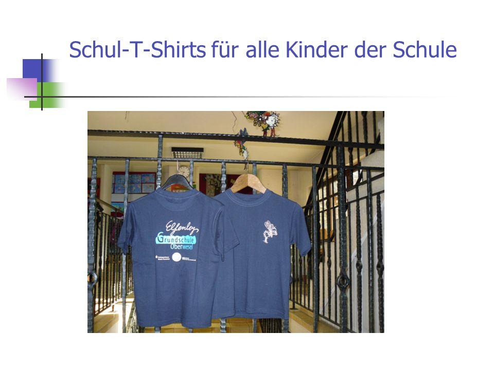 Schul-T-Shirts für alle Kinder der Schule